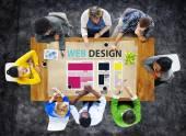 Webové stránky Design myšlenky koncept