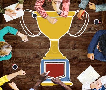 Motivation Trophy Success Concept