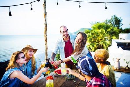 Beach Party Dinner Concept