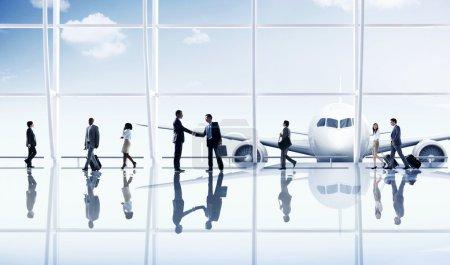 Business people Travel Destination Concept