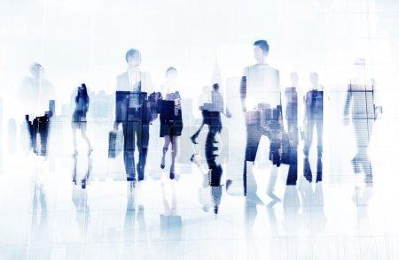 Commuter Business People Cityscape Concept
