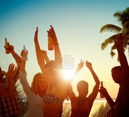 People Beach Party Summer Concept