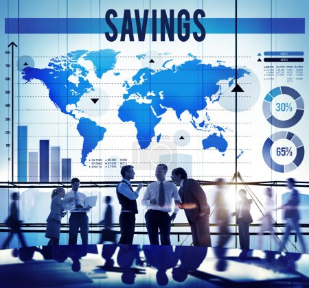 Savings Banking Economy Concept