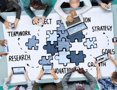 Teamwork Connection Concept