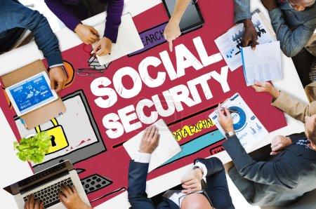 Social Security Welfare Retirement Payment Concept