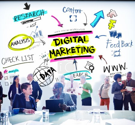 Photo for Digital Marketing. Branding Strategy. Online Media Concept - Royalty Free Image