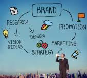 Muž v megafon a Brand Marketing