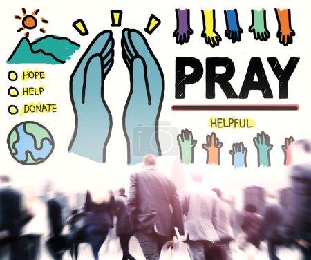 Pray Help Spirituality Religion Concept