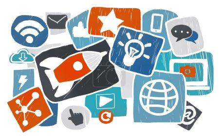 Socal Media Online Concept