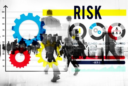 Business people walking and Risk Concept