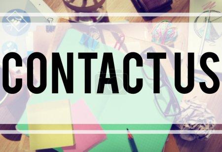 Contact Us Hotline Info Concept
