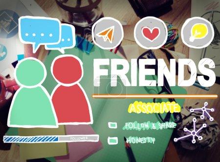 Amis des médias sociaux fidélité Concept