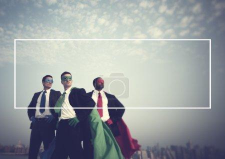 Superhero Businessmen Concept
