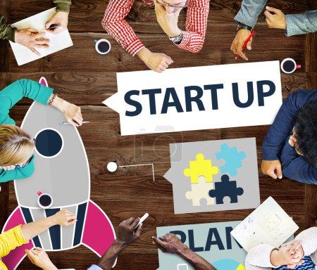 Startup Goals Success, Business Concept