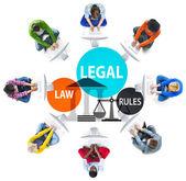 Právní právní pravidla koncept