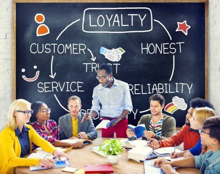 Diversity People and Customer Service Concept