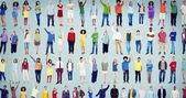 Mnohonárodnostní příležitostné lidí pospolitosti koncept
