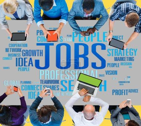 Jobs Occupation, Recruitment Employment Concept