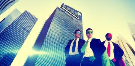 businessmen in Superhero costumes