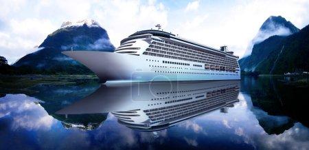 Yacht Cruise Ship at Sea