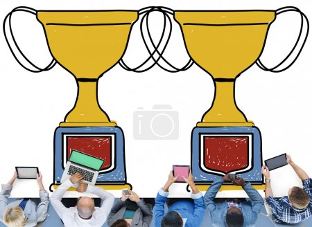 Business People and Motivation Trophy