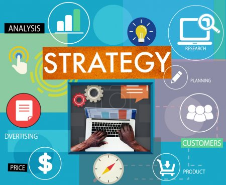 Marketing Strategy and laptop