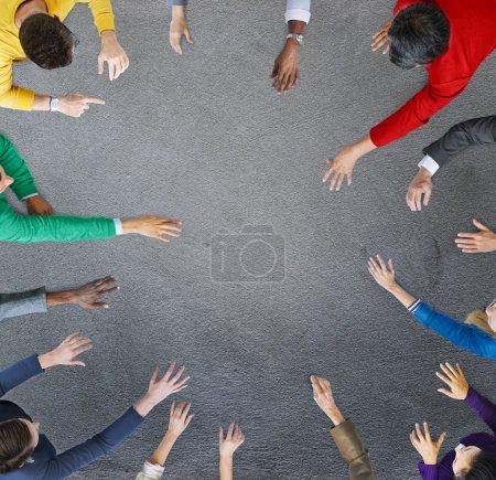 Groupe de gens d'affaires sur le Concept de réunion