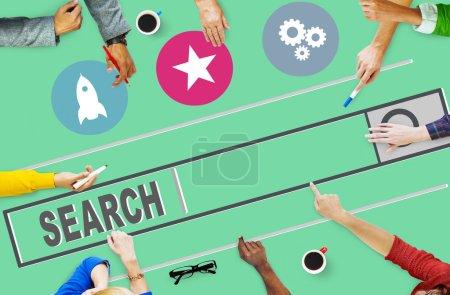 Search Online Web Concept