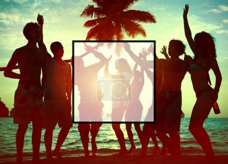 Summer Togetherness and Friendship on Vacation Concept