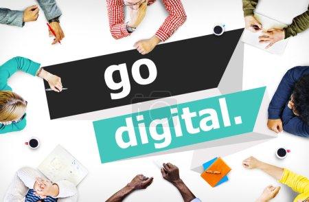 Go Digital Modern Technology Concept