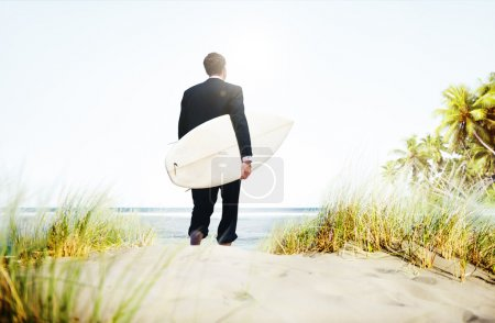Businessman Surfer Activity Concept