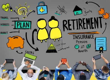 Retirement Insurance Pension Concept