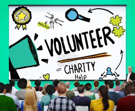 Group of Diversity People and Volunteer Help