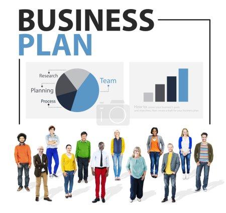 business plan strategie meeting konzept
