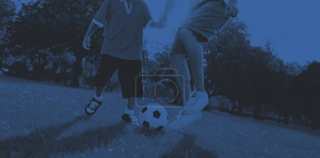 Father Son Playing Soccer Concept