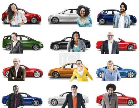 Car Transportation 3D concept