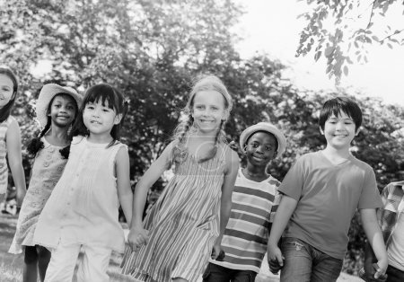 Photo for Diverse children friendship unity concept - Royalty Free Image