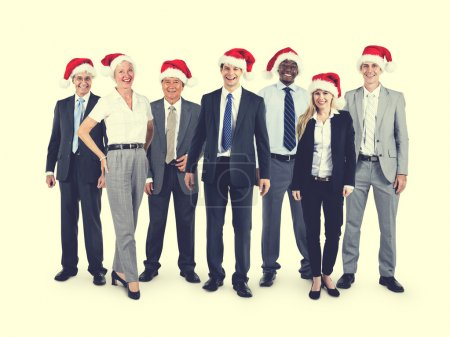 Business People with Santa hats