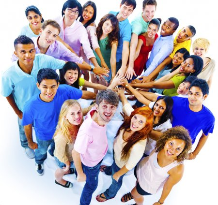 Photo for Group of young Diversity People together, togetherness and unity concept - Royalty Free Image