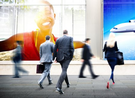 Business People Walking in City Concept