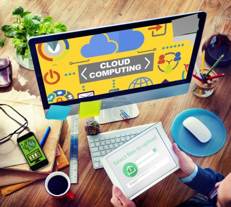 Business People and Cloud Computing Concept