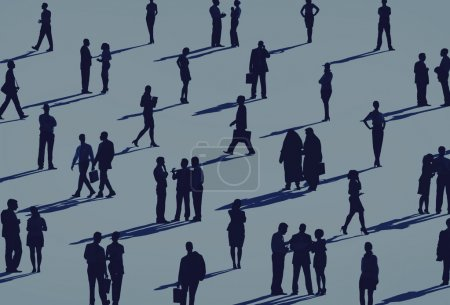 Photo for Professional business persons Silhouettes, business meeting - Royalty Free Image
