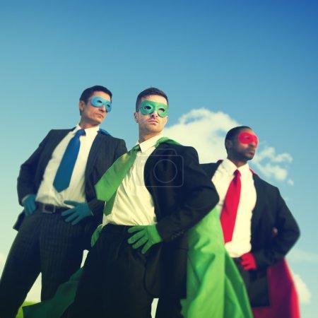 Superhero Businessmen Outdoor Concept