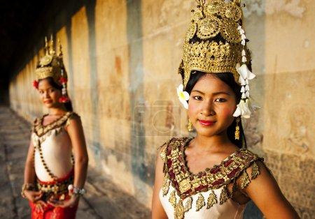 Traditional Aspara Dancers Concept