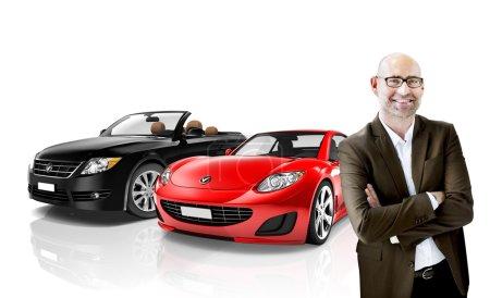 Car, Transportation 3D Illustration Concept