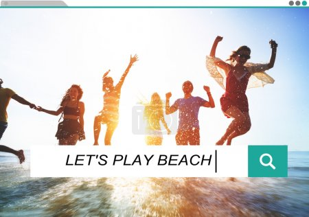 Let's Play Beach Summer Concept