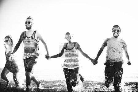 friends at Summer Running Concept