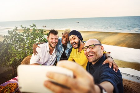Friends doing Selfie Photo, Togetherness Concept