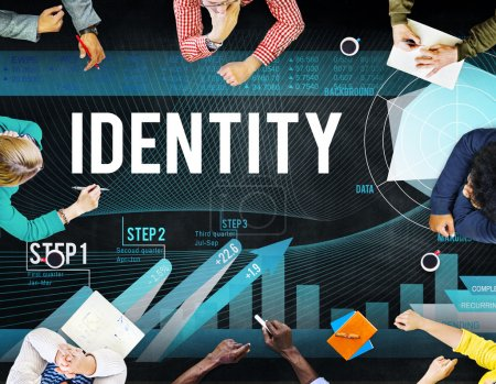Business People Pointing on Identity
