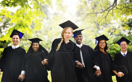 Photo for Group of Students Celebrating Graduation, Commencement University Degree Concept - Royalty Free Image